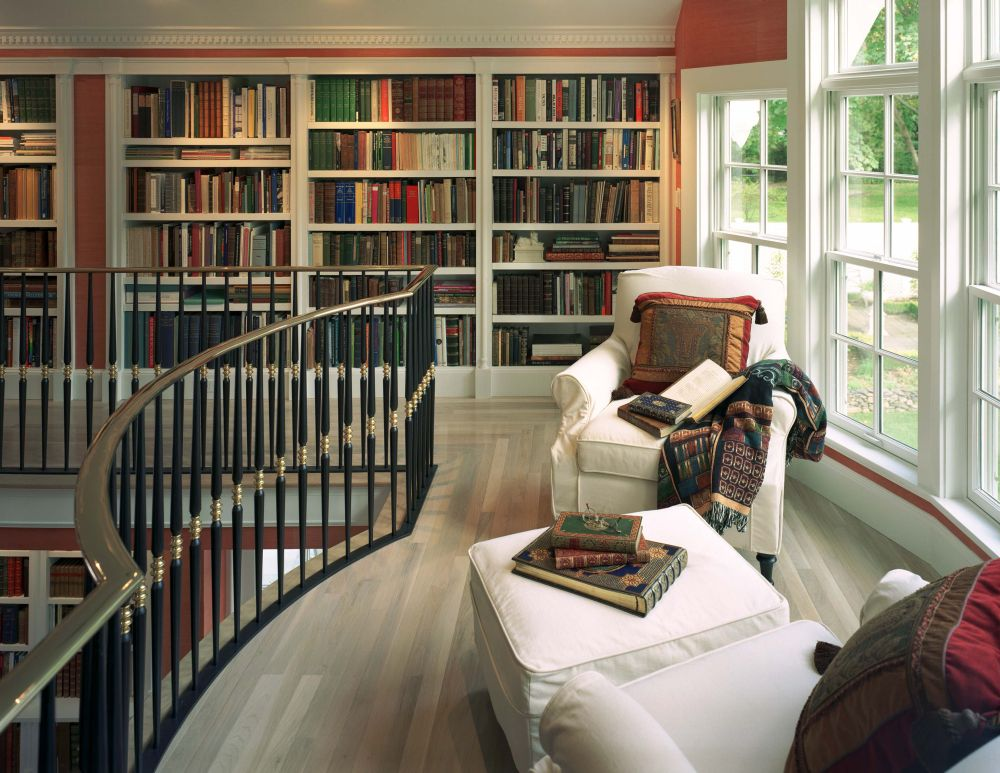 Library In A Private Residence